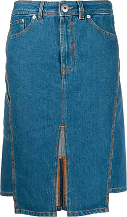 Lanvin slit denim skirt - Blue