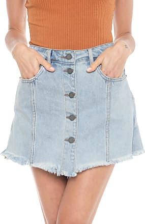 Cantão Short-saia Jeans Cantão Agreste Azul