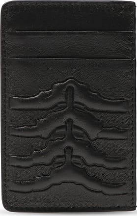 Alexander McQueen Leather Card Holder Mens Black