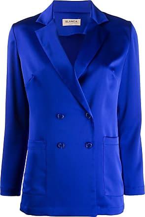 Blanca Blazer de cetim - Azul