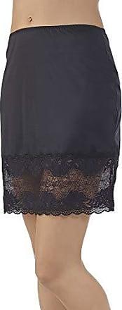 Vanity Fair Womens Plus Size Lace Half Slip 11741, Midnight Black 22 inch, 2X-Large