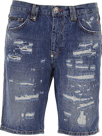 Philipp Plein Shorts for Men On Sale, Denim, polyestere, 2019, US 29 - EU 45 US 30 - EU 46 US 31 - EU 47 US 32 - EU 48