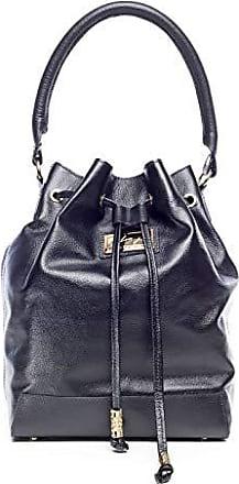 Andrea Vinci Bolsa saco em couro legítimo preta