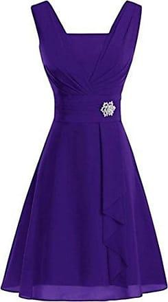 QIYUN.Z Summer 2020 Plus Size Womens Sleeveless Dress Sexy V-Neck Elegant Party Dress Purple 3XL