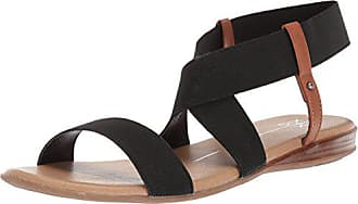 xoxo Womens Bailor Flat Sandal, Black, M110 M US