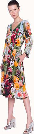 Akris Midi Dress in Silk Crêpe With Floral Print