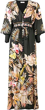 c26661576778 Black Coral Vestito maxi con motivo a fiori - Di Colore Nero