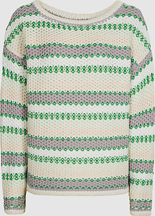 Reiss Anna - Pastel Stripe Knitted Jumper in Green/white, Womens, Size XS