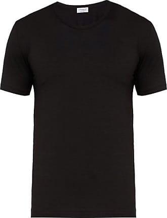 Zimmerli Pureness Stretch-jersey T-shirt - Mens - Black