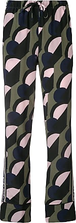 être cécile geometric logo stripe trousers - Green