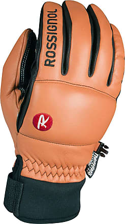 Rossignol Caress-of-Steel Ski Gloves Leather Natural Tan/Black Small