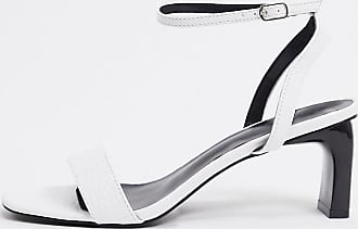 Z_Code_Z Exclusive Alama vegan minimal heeled sandal in white croc