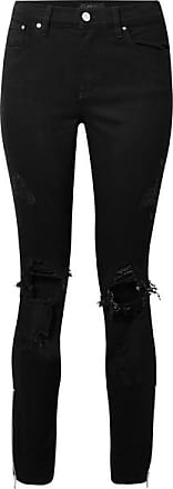 Amiri Thrasher Distressed High-rise Skinny Jeans - Black