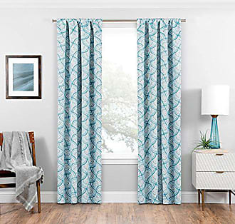 Ellery Homestyles ECLIPSE Blackout Curtains for Bedroom - Benchley 37 x 84 Insulated Darkening Single Panel Rod Pocket Window Treatment Living Room, Teal