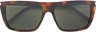 Saint Laurent Eyewear Óculos de sol com armação quadrada - Marrom
