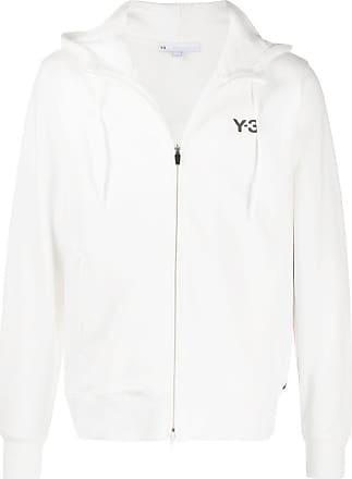 Yohji Yamamoto rear print hoodie - Branco