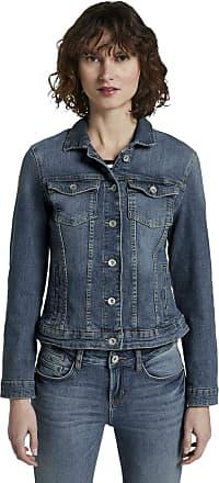 Tom Tailor Womens Jeansjacke Jacket, Used Dark Stone Blue Denim, M