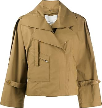 3.1 Phillip Lim cropped trench coat - NEUTRALS