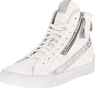 1c32da68c79a57 Diesel Damen D-Velows D-String Plus Mid Hohe Sneaker Weiß (White