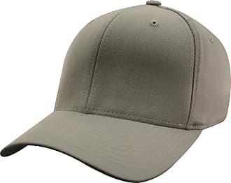 Yupoong Mens Flexfit Fitted Baseball Cap (LXL) (Grey)