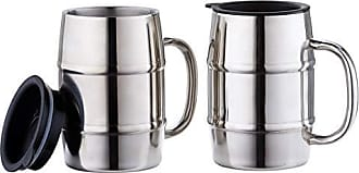Old Dutch International 2480 KeepKool Stainless Steel Lids, Set of 2, 16 Oz. Mug Set, 16oz