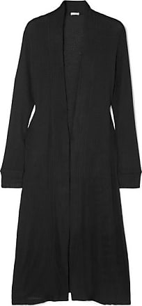 Eberjey Ula Waffle-knit Stretch-modal Jersey Cardigan - Black