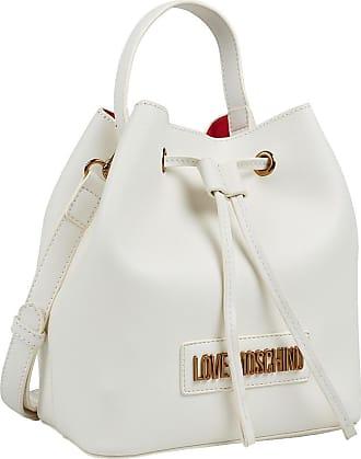 Love Moschino White Bucket-Bag, Damen