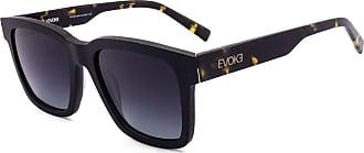 Evoke Óculos de Sol Evoke Uprise DS1 G21 Black Matte Temple Turtle Gold