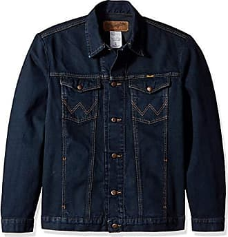 Wrangler Mens Western Style Unlined Denim Jacket, Dark Dye, XXL