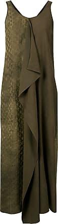 Uma Wang panelled maxi dress - Brown