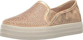 Skechers Womens Double up-Shiny Dancer Fashion Sneaker, Rose Gold, 6.5 M US