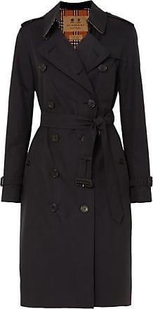 dd71bf1bf854d Burberry Trench-coat Long En Gabardine De Coton The Kensington - Bleu nuit