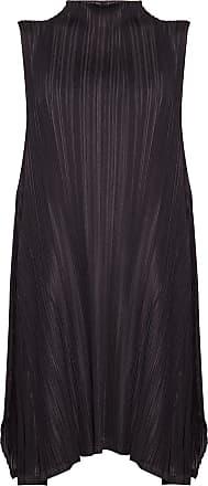 Issey Miyake Pleated Dress Womens Black