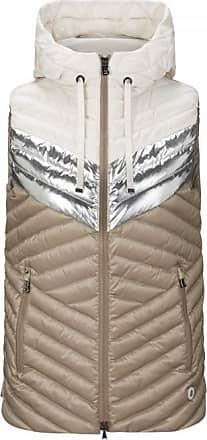 Bogner Jella Lightweight down vest for Women - Beige/Silver/White
