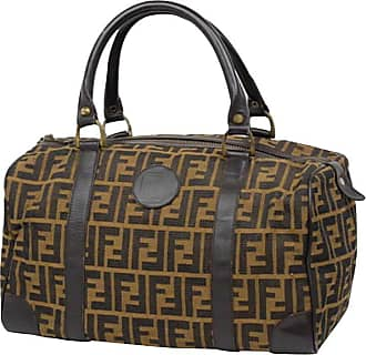 Fendi Monogram Ff Zucca Boston 232897 Brown Canvas Weekend travel Bag fa1b99b49efe7
