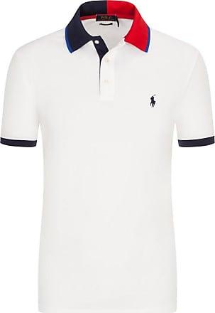 Polo Ralph Lauren Poloshirt mit Kontrastkragen, Custom Slim Fit von Polo Ralph Lauren in Weiss für Herren