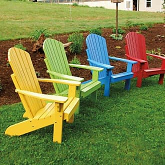 A & L Furniture A & L Furniture Yellow Pine Fanback Adirondack Chair, Dark Green