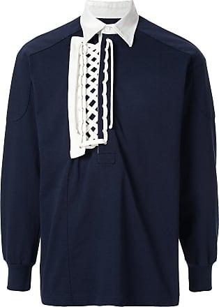 Facetasm Camisa polo com detalhe de amarração - Azul