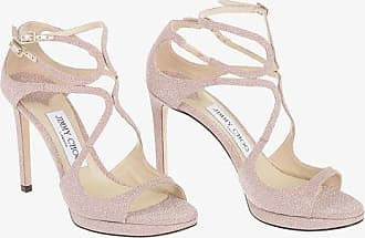 Jimmy Choo London Sandali LANCE in Pelle Glitter 10 cm taglia 35,5