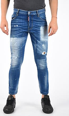 Dsquared2 15cm Denim Distressed 5 Pocket TIDY BIKER Jeans size 42