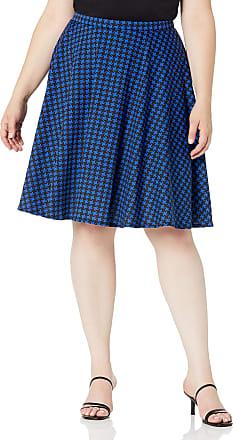 Womens circle skirts MALAM Beige and blue cat print swirly skirt size UK 12  US 8 or Any size