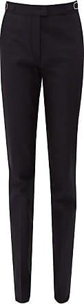 Gabriela Hearst Armon Mid-rise Cotton-faille Trousers - Womens - Navy