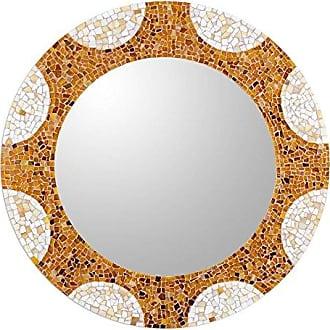 Novica MI0093 Radiant Hills Glass Mosaic Wall Mirror