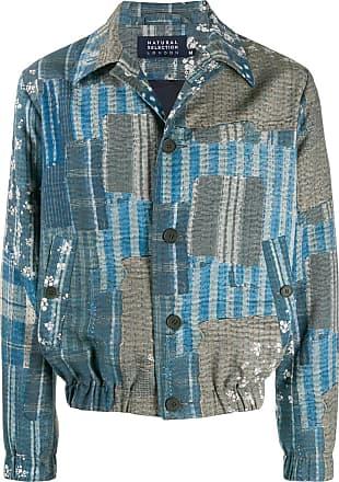 Natural Selection Jaqueta com estampa patchwork - Azul