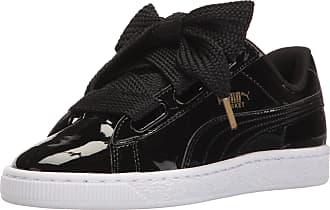 cef76651bb Puma Womens Basket Heart Patent WNs Sneaker, Black, 6 UK
