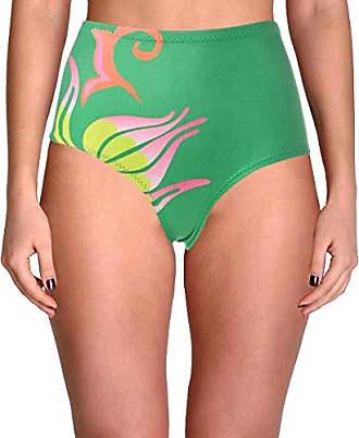 8e08edc92149a Cynthia Rowley Womens High Waist Fiji Bikini Bottom Swimsuit, Kelly Green,  Extra Small