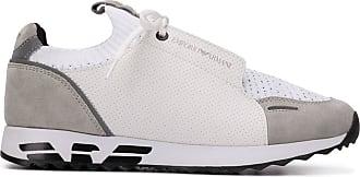 Emporio Armani panelled colour block sneakers - White