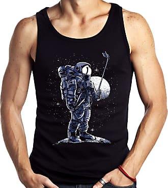 Dragon Store Camiseta Regata Geek Selfie no espaço Astronauta Sem Manga