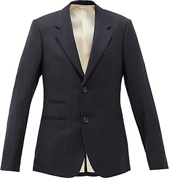 Raf Simons Pinstriped Single-breasted Wool Blazer - Womens - Dark Navy