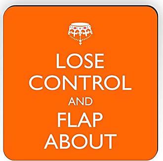 Rikki Knight Rikki Knight Lose Control and Flap About SM Orange Color Design Square Fridge Magnet